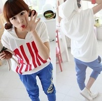 Summer clothes teenage women's summer 2014 young girl fashion sports casual twinset