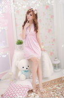 [SNY-031]Women sexy lingerie sexy temptation lace bow short nightdress suit pants t+Free Shipping