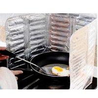 1set/lot Anti Oil Board Oil Splash Blocker Baffle Aluminum Plate Stop Block Oil Spills Splash Cooking Tool EJ671582