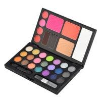 21 Color Eye Shadow Palette with Blusher Powder Makeup Kit Palette
