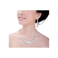 2014 Hot Sale Luxury Crystal Bridal Hotsale Necklace+earrings Classic Jewelry Wedding Accessory, Party Jewelry