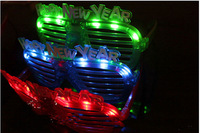 HAPPY NEW YEAR Shutters Shape LED Flash Glasses   four color  For Dances/Party Supplies Decoration Glow Mask Christmas Halloween