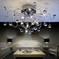 NEW Free Shipping 11-light Chrome K9 large crystal chandelier 110/220V