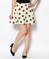 2014 flowers women clothes skirts A short Umbrella skirt fillibeg