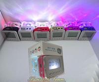 FM Radio Nizhi TT028 Portable Mini Music Speaker Support Micro SD/TF Card USB Disk LED Digital Radio Speaker Drop Shipping Hot