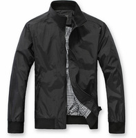 new arrival 2014 autumn Waterproof casual outdoors jacket Slim plus size cotton black m l xl xxl jacket for men