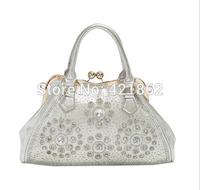 2014 New Hot Sales Fashion Women's Rhinestone Decor Handbag Female Elegant PU Messenger Bag Lady Tote Shoulder Bag Sling Bag