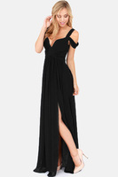 2014 New Blue/Red/Black/Green Sapphire Bandeau Lace Evening Long Women Summer Dress Drop Shipping Cheap Price LC6238