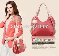 2014 New Hot Sales Fashion Women's Embossing Pendant Handbag Elegant PU Messenger Bag Lady Tote Shoulder Bag Sling Bag