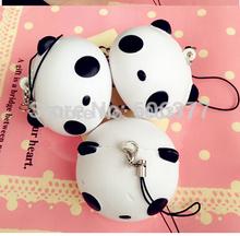 New Lovely Cartoon Panda Head Squishy Phone Charm / Bag Charm/Free Shipping(China (Mainland))