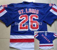 #26 Martin St.Louis Blue Third New York Rangers Team ice hockey jerseys 2014 cheap
