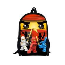 2014 hot sale kids school backpack for boys,new fashion cartoon lego backpack,children hero backpack,student book pack men's bag(China (Mainland))