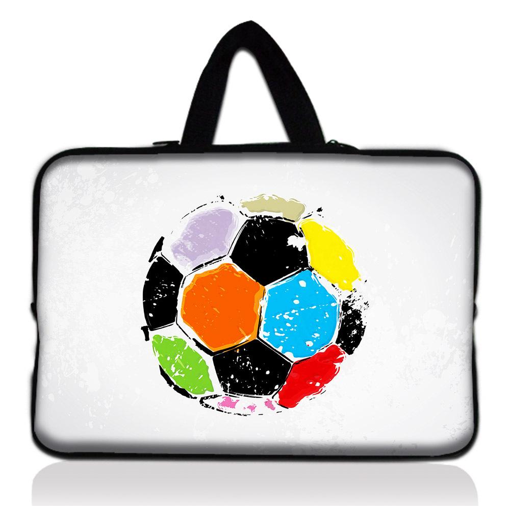 """New fresco Brasil Cor Futebol 13.1 """" 13.3 """" Soft Neoprene Netbook Bag luva + Esconder Alça Para Para Dell Acer HP Asus Toshiba Pc(China (Mainland))"""