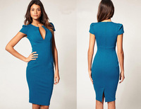 2014 summer the new selling  short sleeves Pencil  female dress*