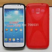 200Pcs X For Samsung Galaxy Core LTE G386F Soft TPU Jelly X Line Gel Back Case Skin