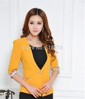 2014 New Fashion Spring Summer Professional Business Blazers Tops Women's Blazer Coat Jacket Office Lady Work Wear Outwear