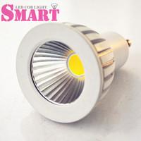 CE RoHS 3W/4W GU10 Base Socket 110V/220V/240V LED COB Spot Bulb Lamp White Casing 45 degree angle 12PCS/Lot Free Shipping