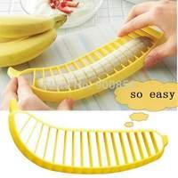 1 Piece Free Shipping 2014 New Banana Slicer Cutter Chopper Fruit Cereal Sundaes Kitchen Tool Gadget Utensil