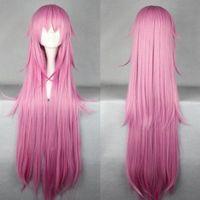 80cm X Long Purple Straight Anime Cosplay wig