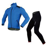 SOBIKE Winter Cycling Suits Fleece Jacket-Alien ,Fleece Tights-Galaxy New 2 Colors Blue Red