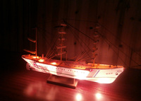 1:300 Endeavour training Ship sailboat model  kit with motor and light