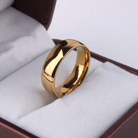 Bijoux Brand Men jewelry 316L Stainless Steel Vintage Gold Plated O Ring For Men And Women
