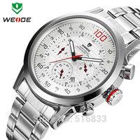 New Weide Class Japaneses Quartz  Analog Men's Wrist Watch Sports Watch Calendar w/ Aviation Dial Decoration 3 Styles