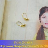 IZI02458 18K Gold Filled Green pendant spoon earrings  2pcs/lot