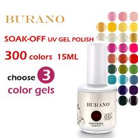 Choose 3pcs BURANO UV nail gel Soak Off nail gel nv polish 15ml 0.5oz  nail tools art NEW