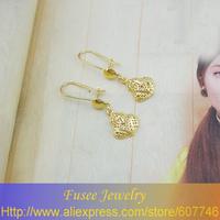 IZI02178 18K Gold Filled Green pendant earrings  2pcs/lot