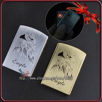 Metal Eagle Design Design Windproof Flameless Cigarette Metal Electronic USB Lighter