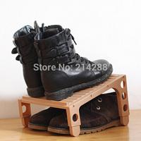 Plastic Simple Adjustable Double-Deck Multifunctional DIY Shoes Stands