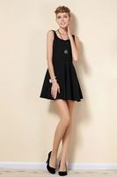 2014 spring and summer elegance Slim thin sleeveless little black dress
