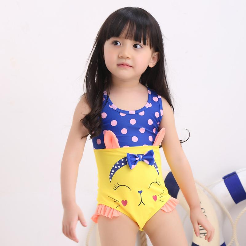 Wholesale price 2016 new cartoon baby girls swimwear kids ...