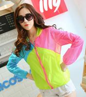 5pcs/lot free shipping color matching female transparent thin long sleeve cardigan sun-protective clothing big yards