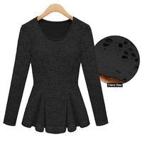 Hot Fashion 2015 Women Blusas Lace Women Dress Engraving Flower solid black or white Casual Dress
