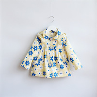 New 2014 Autumn baby &kids clothing girls fashion Sunflower Hooded trench coat 3 colors 5pcs/lot
