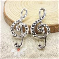 75 pcs Charms Note  Pendant  Tibetan silver  Zinc Alloy Fit Bracelet Necklace DIY Metal Jewelry Findings