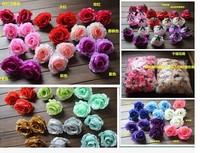 The simulation flower big head rose flowers Red silk flowers flower arrangement arch flower arrangement Perfume rose  50pcs