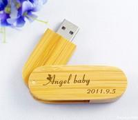 Free evgrave your logo wooden swivel USB flash drive wooden USB pendrive USB memory stick