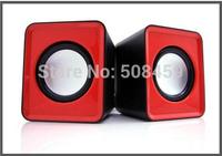 New 2014 USB Portable mini stereo Speaker for laptop notebook tablet PC Desktop sound box music audio Speaker  +Free Shipping