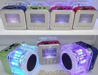 Portable USB Mini Music Speaker Nzhi TT029 With FM Radio LED Screen Support Micro SD/TF card U-disk slot Audio Player Free DHL