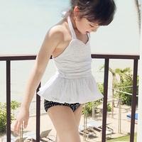 2014 Children's Bikini Swimwear Girls Two Pieces Split Skirt Princess Child swimwsuit Cute Beachwear