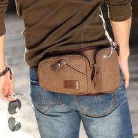 Classic Canvas men pouch bag bolsa Tactical outdoor sport waist pack for mobile phone cigarette wallet 36194