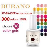 Choose 36pcs colors UV nail Soak Off Uv Gel Polish 36pcs gel polish 15ml 0.5oz (300colors) nail kit
