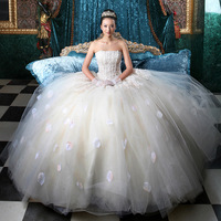 New Arrival Waist Wedding Dresses Bridal Gown Formal DressTube Top Sexy Long Wedding Dress WOMEN Tulle Lace Wedding Dress