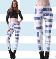 Hot Selling Greece  Flag Print Women's Leggings Sexy fitness clothing for women
