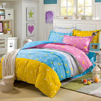 100% cotton bedding set 4pc bedclothes queen size duvet covers bed sheet and pillowcases sets bedspread flat sheet bedclothes