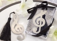 novelty design music note shaped bookmark wedding small gift for guest + free shipping 200pcs/lot creative gift