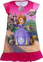 Baby girls pajamas cartoon sofia princess summer pyjamas Children nightgown/kids sleepwears dress(4pcs/lot)
